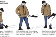 SHOVELLING TIPS TO SPARE YOUR SPINE